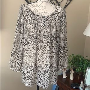 Chico's Leopard Spotted Blouse